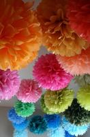 Free Shipping 20pcs 20cm(8 inch) Tissue Paper Pom Poms Wedding Party  Craft Paper Flower For Wedding Decoration pom pom