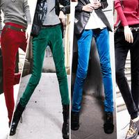 Free shipping summer women cheap clothing 1612 fashionable casual trousers flat velvet elastic waist slim pencil pants