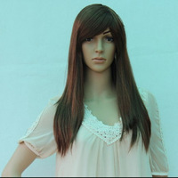 Wig ball festival wig model wig long straight hair wig christmas