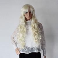 Ball model wig cos wig big wave long kinkiness beige