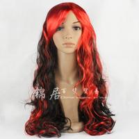 Dance party wig multicolour color wigs model wig cos wig long curly hair