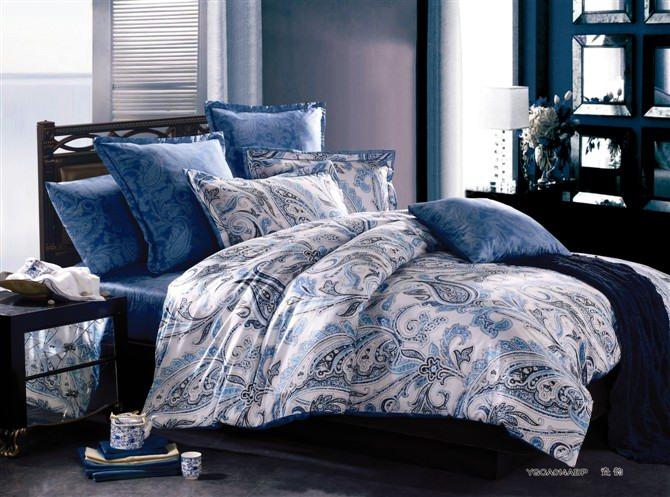 Navy Paisley Bedding Blue Paisley Bedding Blue