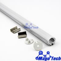 FEDEX Free shipping MOQ 10Pcs- anodized aluminum led wardrobe profile, led cloth rod profile and led reading light profile
