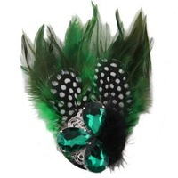 Wholesale 5pcs/lot Handmade Feather Rhinestone Brooches Crystal Head Wear  Jewelry Accessories For Women 2013 Dress TBH0056