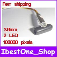 Free shipping!Diameter of 3.9 mm mini camera module 2 LED 100000 pixels,snake endoscope module