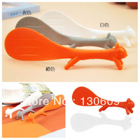 Min.order $15 Free Shipping Creativity Cute Non-Stick Rice Paddle Squirrel Spoon Plastic Salad Sushi