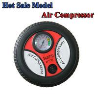 Free Shipping Mini Tire Inflator Air Compressor Car Auto Portable Pump 260PSI DC12V