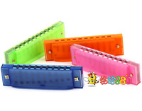Freeshipping  orff musical instruments child harmonica multicolour toy harmonica