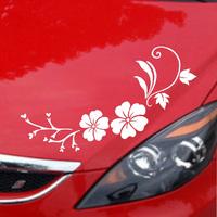 Personalized car stickers car sticker garland body small mei decorative pattern bonnet single