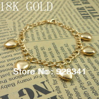 Wholesale - 1pcs/lot Women's Jewelry 18k gold plated chains bracelet link bracelet charm bracelets gold color R12