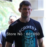 man short sleeve t-shirt Hayabusa Forrest Griffin fight tops black 095