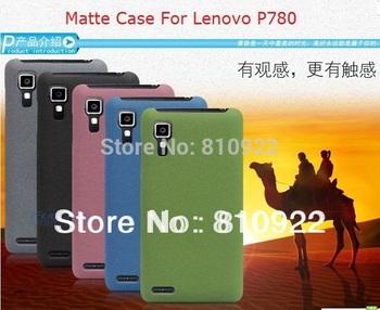 2 PCS/LOT High Quality Hard Matte Case For Lenovo P780 Case Lenovo P780 Cover Anti-slip 5 Colors+Screen Protector,Free Shipping