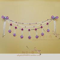 Hair accessory hair accessory hairpin butterfly rose rhinestone princess chain Latin dance chain