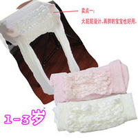 Velvet child big spring and summer thin pantyhose lace decoration infant socks