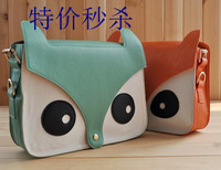 5pcs/lot 2013 Women Fashion PU Leather Handbags Cute Cartoon pattern small Shoulder messenger Bag Handbags 5 Colors