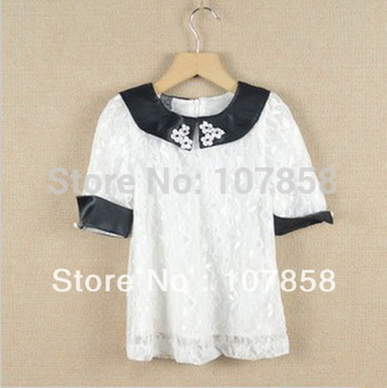 Wholesale 2013 Hot sell Occident High quality Fashion Embroidery Lace Kids Girls dress children's dresses 2 colors #167929