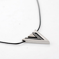 Min.order is $10 (mix order)  Europe Vogue Jewelry Exaggerate Triangle Necklace Wholesale !Free shipping! Neutral JEWELRY !