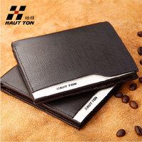 2013 New 100% cowhide Hautton wallet male short design casual gold cowhide wallet male wallet cowhide