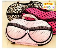 M30-091 Funny Creative lovely lace dots print travel fabric bra bag/ bra storage box /bra clean up box