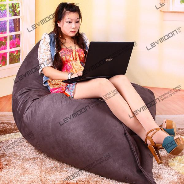 FREE SHIPPING 140*180CM bean bag chair cover gray bean bags no filling beanbag sofa cover lounger sofa stool(China (Mainland))