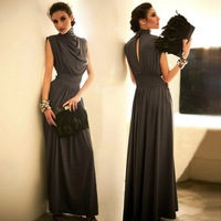 Free shipping Drop Shipping Loose Low-key Luxury Long Evening dress Plus size 3color RG1209020