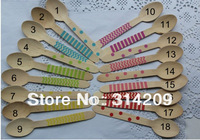 Promotion! 18 Colors,  Assorted Chevron/Striped/Polka Dot Coloful Disposable Wooden Spoon, Party Utensils, 157mm=6.18inch