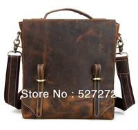 Tiding,100% Authentic, Leather,Classic Fashion, Business Casual, Vertical section, Shoulder Messenger, Dark brown, Men Bags