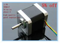 NEMA17 CNC stepper motorp    78 Oz-in /48mm stepping motor/1.8A
