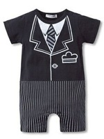 2013 NEW wholesale baby infant Toddler handsome romper baby baby jumpsuit promotion children clothing baby cloth