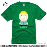 Big t-shirt kenny south park male Women 100% cotton short-sleeve T-shirt 1 plus size