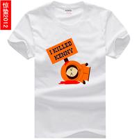 Kenny south park male Women 100% cotton short-sleeve T-shirt basic shirt lovers