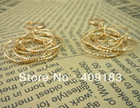 Wholesale - 1pair/lot Women's Jewelry 18k gold plated  Clip earrings gold color 36mm/21.9mm R21