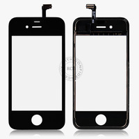 New For iPhone 4 4S LCD Screen Display With GlassTouch Digitizer Assembly Replacement Black&White Bracket Free Shipping YXF00587