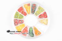 120x3D Mix color Fimo Slice Nail Art Tips Sticker Polymer clay flower fruit UV Acrylic Decoration nail art decoration Wheel