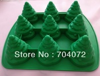 FREE SHIPPING new arrival Christmas Tree shaped silicone cake mold muffin cake jellry mould for party