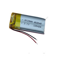 3.7V 500 mAh Rechargeable Polymer Lithium battery for GPS PSP Bluetooth Headset Mp3 Mp4 Mobiles Backup power Supply 602040