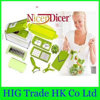 Free Shipping as seen on tv 96pcs/lot Fruit&Vegetable Nicer Dicer Plus Slicer Cutter Chopper Chop Potato Peelers kitchen tolls