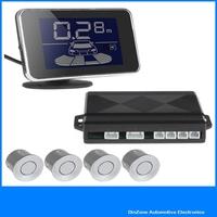 LED Display Waterproof 4 x car parking sensor kit reverse backup radar system with buzzer, Free Shipping