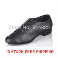 In stock Free Shipping,Promotion black shoes  men modern dance shoes Men Ballroom Dance Shoes free shipping