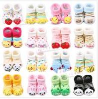 wholesale 12pcs/lot baby cartoon socks Baby socks newborn doll socks / cute baby socks