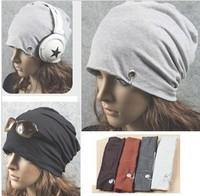 Free Shipping Brand 2013 Unisex Cotton Hip Hop Ring Warm Beanie Cap In Winter Women Knitted Hats Men Beanies HTZZM-016