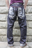 Artful dodger primaries tannin loose hiphop hippie applique skateboard jeans pants wide leg pants