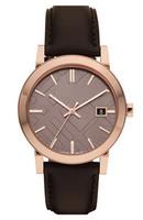 Fashion genuine leather strap rose gold popular quartz watch bu9013 male watch
