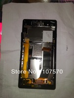 for Sony Xperia Z L36H L36i Screen LCD with Digitizer Touch Assembly Disassemble lcd with frame free shipping DHL