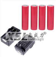 4PCS Sanyo UR18650F 2600mAh 3.7V Lithium Rechargeable Battery Flashlight Batteries Digital Battery + Charger + Free shipping