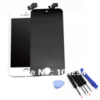 Lowest Price  LCD Display Touch Screen Assembly With Frame+Free Open Tools For iPhone 5 Black And White Free Ship