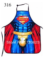 Free Shipping 2013 Interesting Kitchen Apron Cooking Muscle Superman Funny Sexy Apron