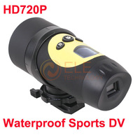 HD 720P Sports Waterproof Bike Head Helmet Action Camera DVR Portable Camcorder Cam AT18A 1280*720P 30FPS