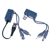 Free shipping Multi-Functional Baluns Video Transceiver Transmitter CAT5 Twisted pair Video Balun with Audio and Power
