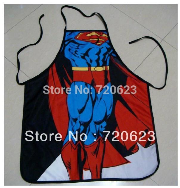 Free shipping novel and interesting cute superman kitchen apron cooking apron aprons(China (Mainland))